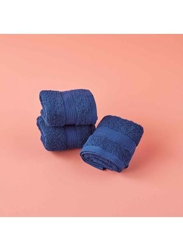 Bella Maison %100 Pamuk Premium 3′lü Havlu Seti Lacivert (30x50 cm) Lacivert